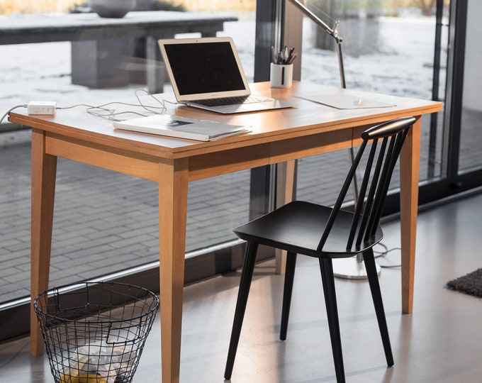 desk solid wood - office desk oak - desk timber - office table wood - desk danish design - office desk classic design