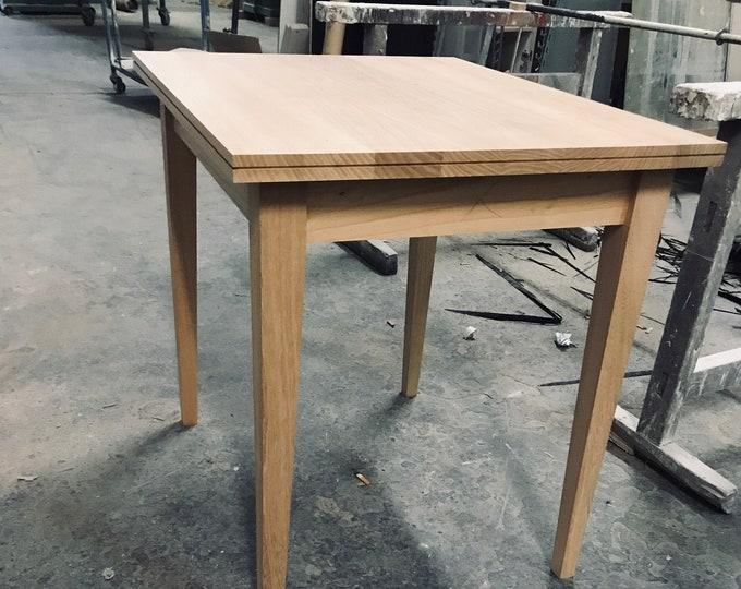 "REKORd kitchen table 31"" elm wood kitchen desk timber kitchen table vintage table for kitchen wood elm wood kitchen table small table"