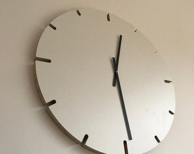 Wall watch 60 cm-REKORD table-wall clock industrial design-large wall clock-wall clock white-designer clock