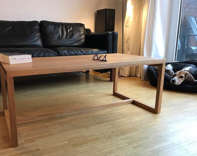 coffee table minimalistic design side table oak wood REKORD furniture