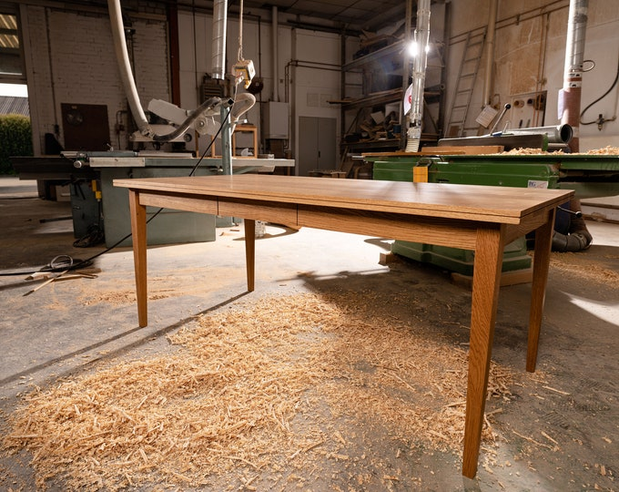 dining table oak for 10 people dine table oak wood REKORD furniture