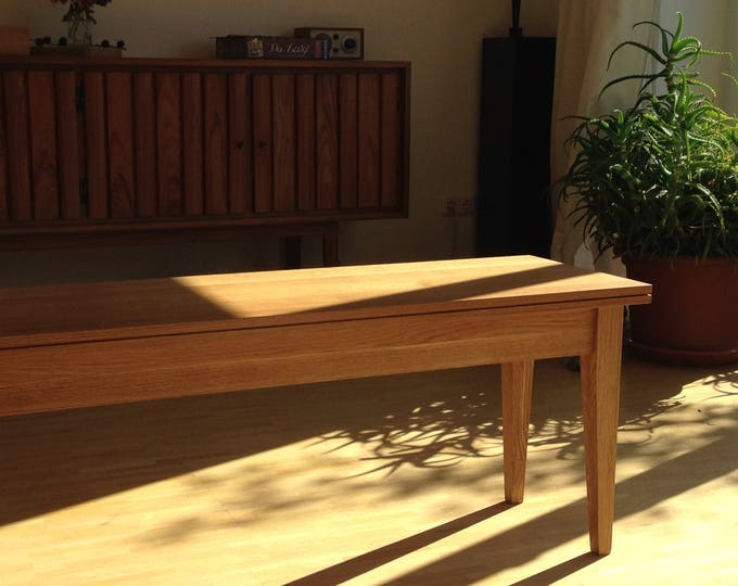 bench solid timber - handmade bench oak wood - large bench oak timber