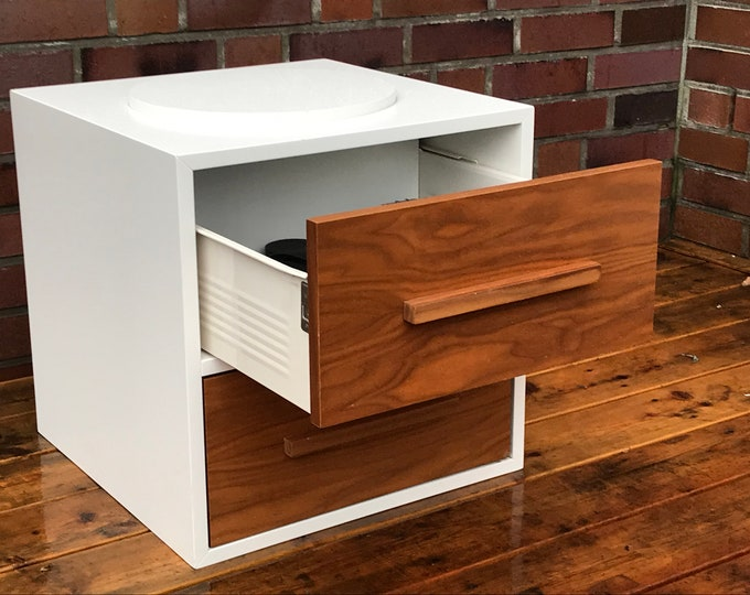 container with drawers - side table modern style - coffee table drawers