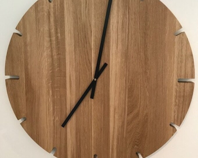 large wall clock oak wood  clock danish design REKORD furniture