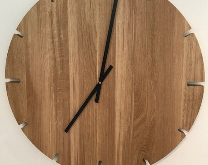 Wall clock - clock danish design - wall clock solid timber
