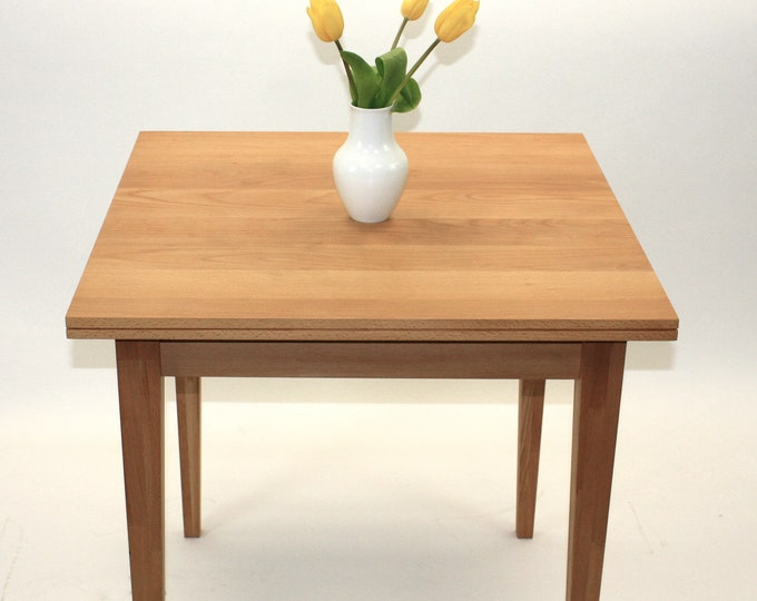 kitchen table square oak wood desk danish design REKORD furniture