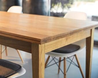 dining table solid oak wood wooden desk REKORD furniture