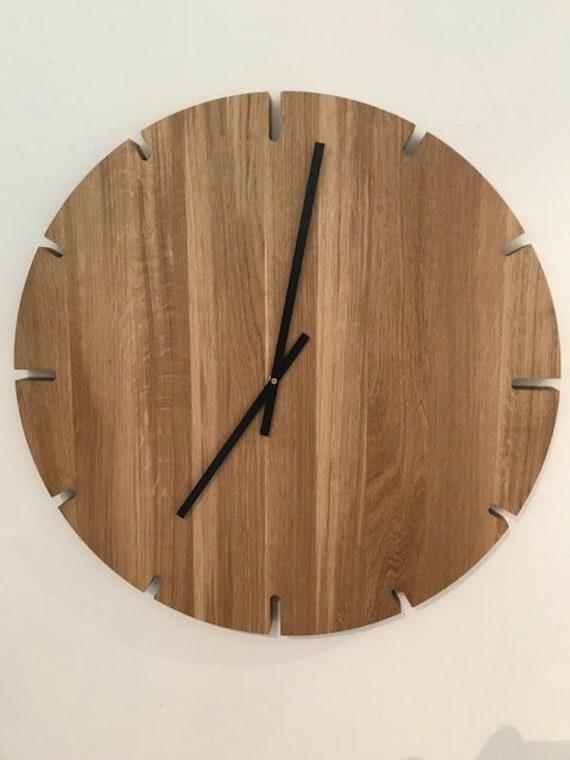 Wanduhr Holz Groß Uhr 60 Cm Uhr Handarbeit Wanduhr Groß Etsy