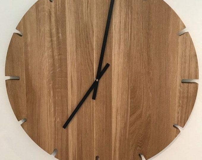 large wall clock oak wood  clock danish design REKORD furniture