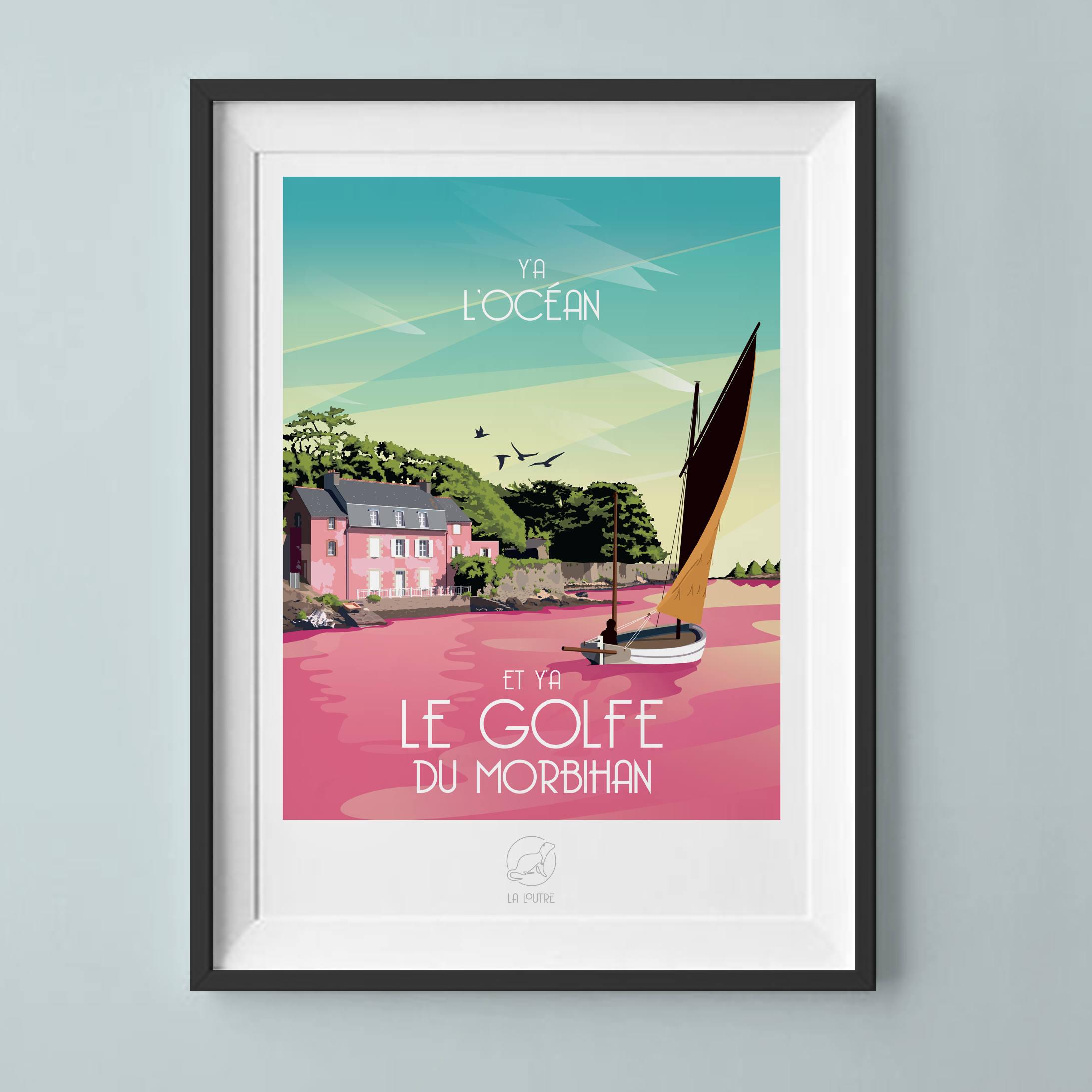Salle De Bain Bicarbonate Vinaigre ~ Affiche Golfe Du Morbihan Etsy