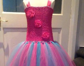 Rose tutu dress age 6- 9 years