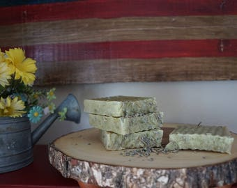 Lemongrass and Lavender Homestead Soap. Handmade. Small Batch. Made in the USA.