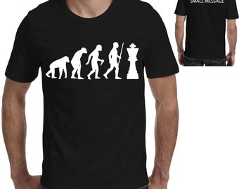 ad9c32ab2 Evolution of Chess Funny Printed T shirt