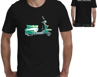 22f4203a Scooter Retro Cool Motorcycle printed Mens T-Shirt
