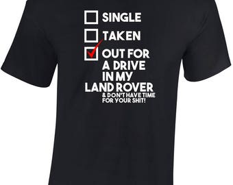 Out for a drive in my Land Rover T shirt Ideal personalised Gift