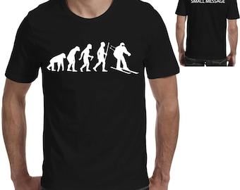 b4ee22c89 Evolution of Ski Skiing Skier Funny Printed T shirt 1