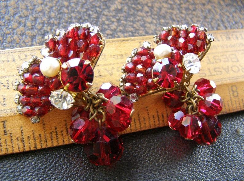 cbb559d58 Miriam Haskell Earrings Vintage 1940s Miriam Haskell earrings | Etsy