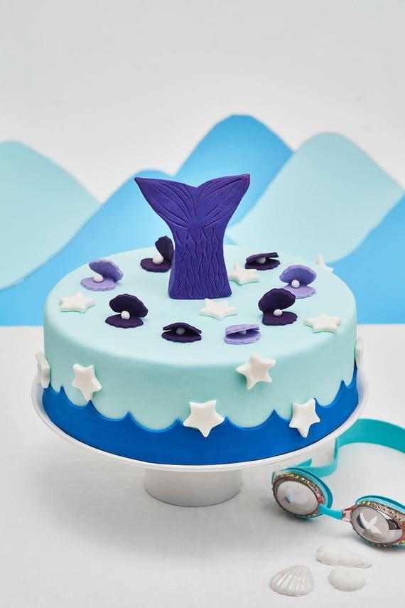 Cakest co DIY Mermaid Cake Kit  Ingredients, decorating tools