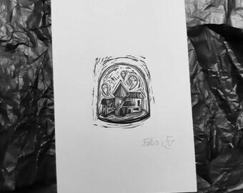 The ball ghost art illustration