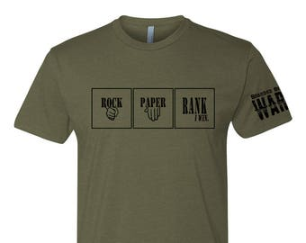 Rock Paper Rank Game Army Marines