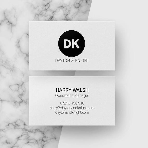 Individuelle Moderne Visitenkarten Schwarz Und Weiß Kreis Design Minimale Visitenkarte Maßgeschneiderte Entwürfe Büromaterial Digitaler Download