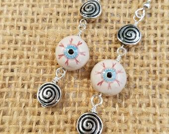 Hypnotic earrings | Etsy