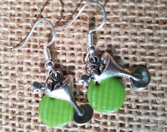 Green Martini Earrings