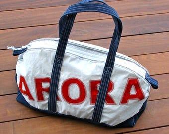 Custom Weekender - Luggage, Personalized Bag, Repurposed Sail Bag, Cary-On Bag, Beach Bag, Gym Bag