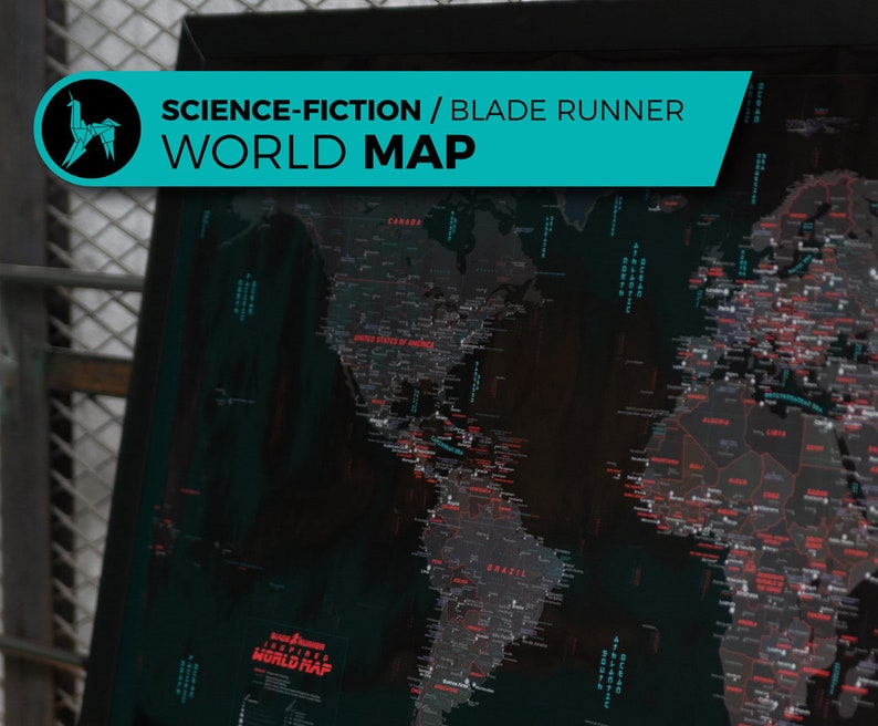 High Quality Blade Runner Inspired Map Blade Runner World image 0