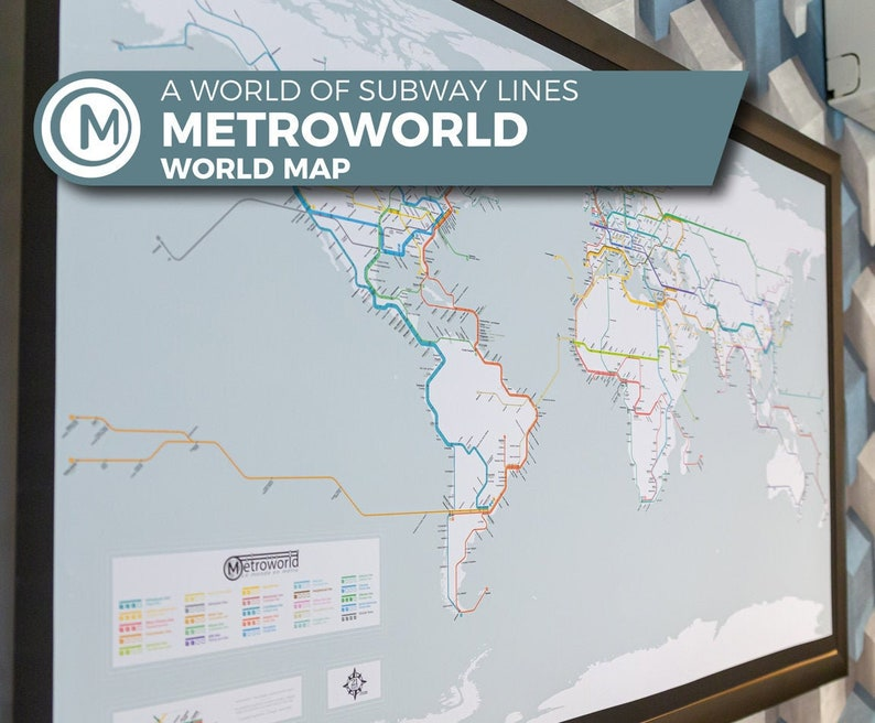 World map with subways Subway world map cities are linked by image 0