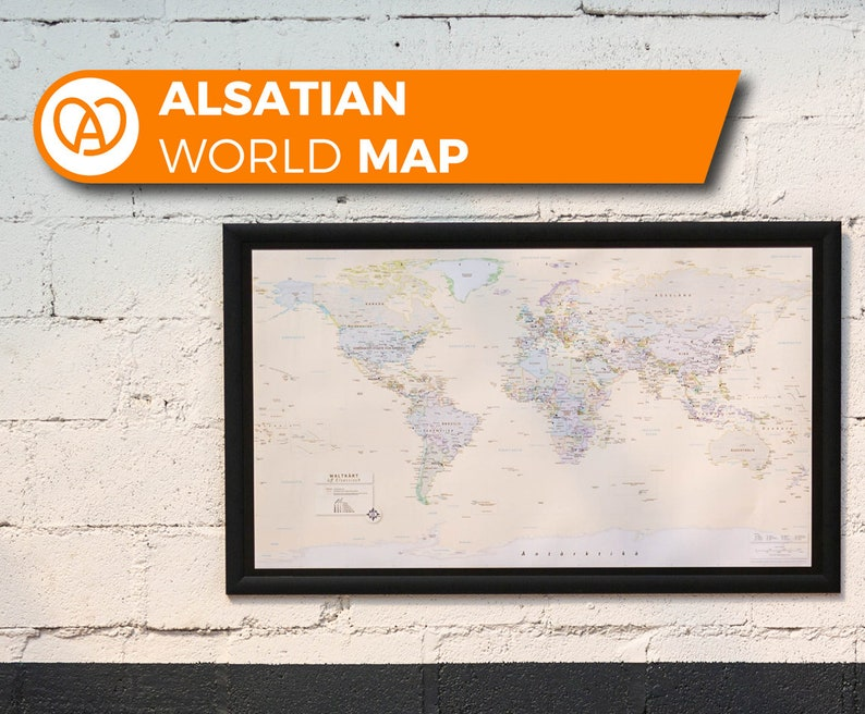 The first ever World map in alsatian language image 0