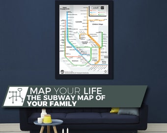 Metrolife,Map you life. I'll draw your life in a subway map fashion with people as lines and major events as stations. Like a Family Tree.