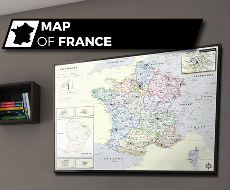 Aesthetic and Accurate Map of France to decorate image 0