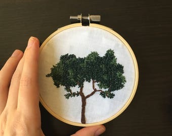 Hand Embroidered Tree (nature wall art, minimalist home decor!)