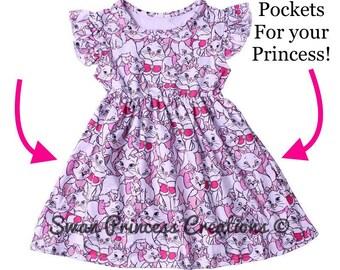 Summer Pinafore Dress Childrens Dress Marie Cat Classic Prints Girls