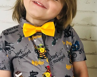 RECYCLED UPCYCLED Tunic top dress Tailored from  licensed Pokemon Pikachu mens shirt Choose size and style