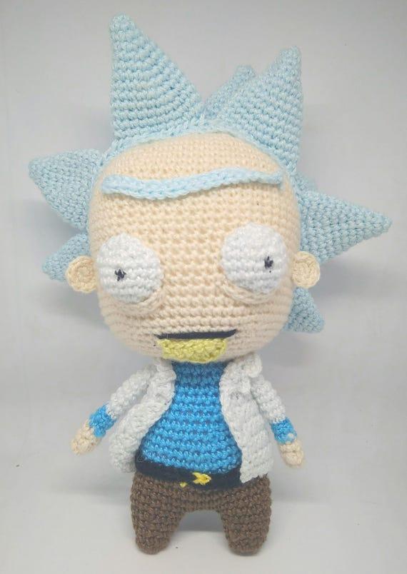 PATRÓN Rick sanchez lookalike amigurumi pattern pdf crochet   Etsy