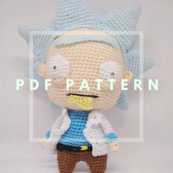 PATRÓN Rick sanchez lookalike amigurumi pattern pdf crochet | Etsy