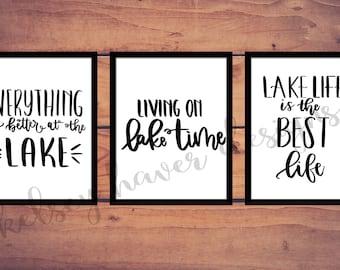 Lake Life Quotes Lake quotes | Etsy Lake Life Quotes