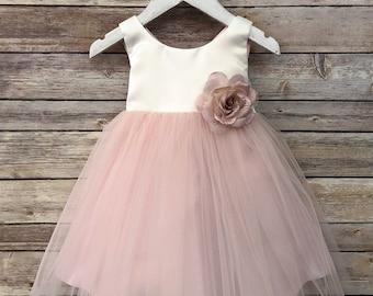 d26782afe24 Sweet Blush Baby Flower girl dress with silk flower