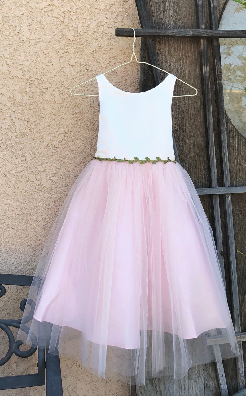 15f378b4693 Perfect flower girl dress soft ivory top with contrasted