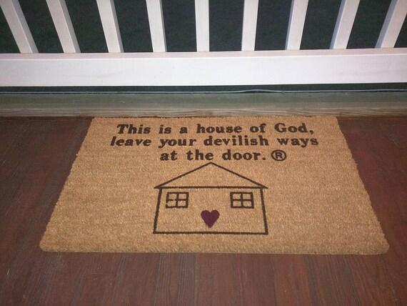 Christian Doormats// Doormat// Door Mat// Entrance Mat// | Etsy