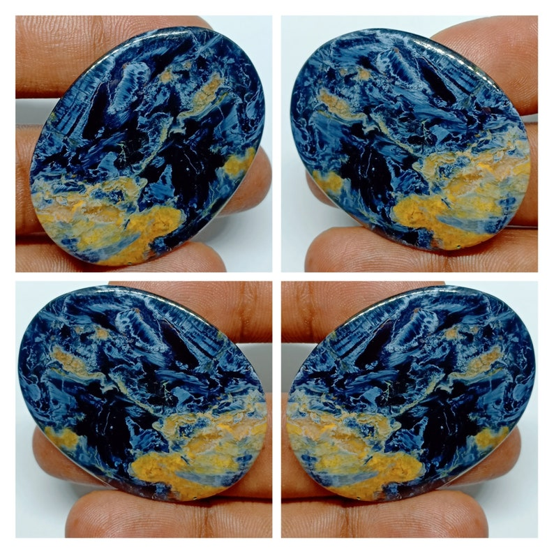 Marvelous Pietersite Loose Gemstone Top Quality For Jewellery Oval Shape 34*44mm Very Rare Natural Pietersite Cabochon Handcraft Stone