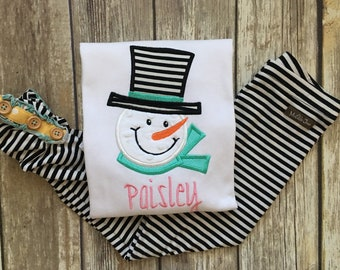 7249f8902d2ff Snowman Shirt, m2m Matilda Jane Tiptoe Leggings and Duckling leggings
