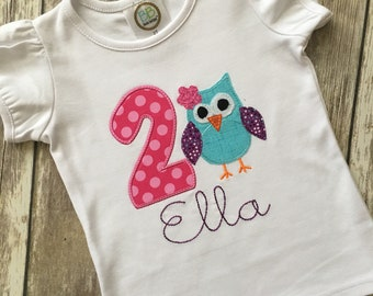 Owl Birthday Shirt