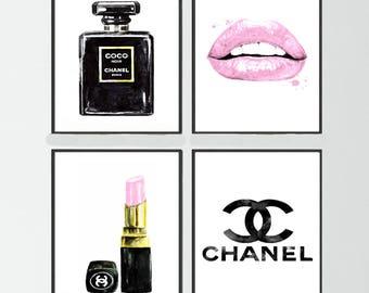 4e0013961 Chanel Noir perfume set of 4