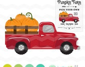 Pumpkin Truck SVG File: Pumpkin Farm Sign svg File, dxf, svg, Silhouette Cameo, Cricut Fall Cut Files, Pumpkin Patch Truck