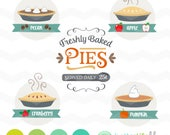 Freshly Baked Pies SVG File: Apple Pie Pumpkin Pie Pecan Freshly Baked svg Sign File, dxf svg, DXF Silhouette Cameo, Cricut Fall Cut Files
