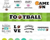 Football SVG Bundle, Football Mom svg File, dxf, svg, DXF Silhouette Cameo, Cricut Fall Cut Files, Fall Autumn Jesus & Football Y'all