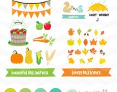 Fall Harvest SVG File: Fall Leaves SVG File, Autumn dxf, cute apples fall svg bundle, DXF Silhouette Cameo, Cricut Fall Cut Files